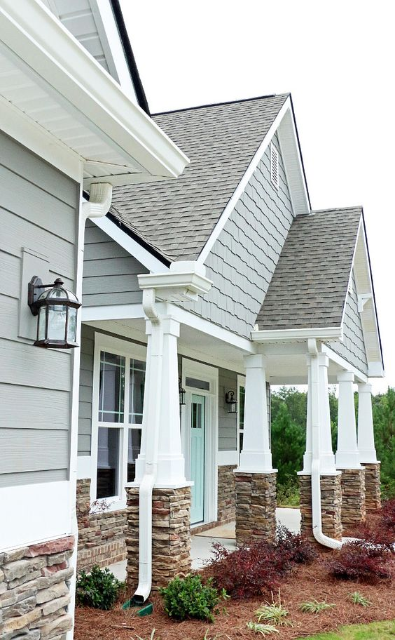 Home exterior paint color home exterior paint color for Gray stone paint color