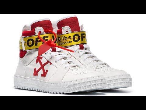 Off White Belted Sneaker حزام اوف وايت محزم سنيكر Youtube High Top Sneakers Top Sneakers Sneakers