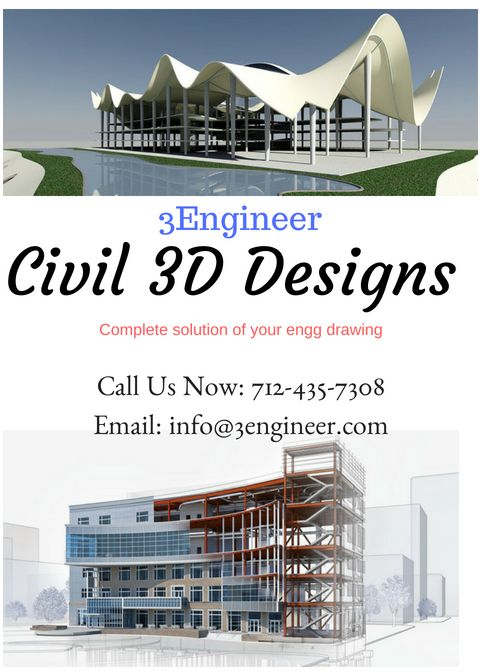 3engineer Civil 3d Design Service The 3d Designs Of These Structures Created By A Civil 3d Design Services Com Engenharia E Construcao Construcao Engenharia