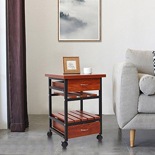 Dporticus Rolling Square Side End Table With Drawers Bedroom Night Stand Cabinet Org Bedroom Night Stands End Tables With Drawers Accent Chairs For Living Room
