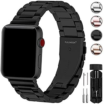 Amazon Com Fullmosa Compatible Apple Watch Band 42mm 44mm 38mm 40mm Stainless Steel Metal Fo 38mm Apple Watch Band Best Apple Watch Apple Watch Bands Leather