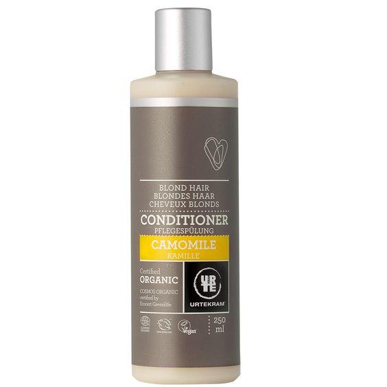 Acondicionador de manzanilla de Urtekram, para cuidar el cabello rubio - Ecobelleza, cosmética ecológica certificada