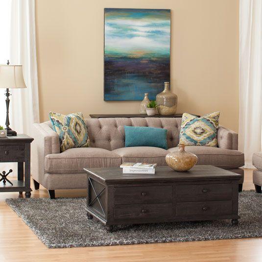 Classic Natural Sofa Loveseat By Jeromes Furniture SKU SYG69SASB
