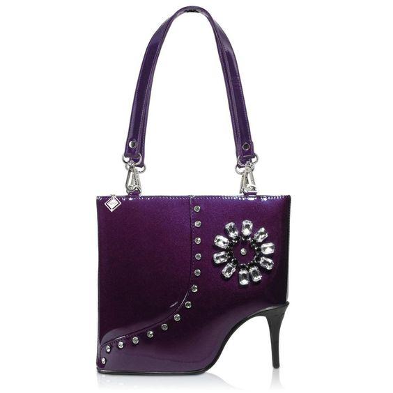 DARLING'S Amliya Stiletto High-heel Fashion Design Handbag Shoulder Bag Purple