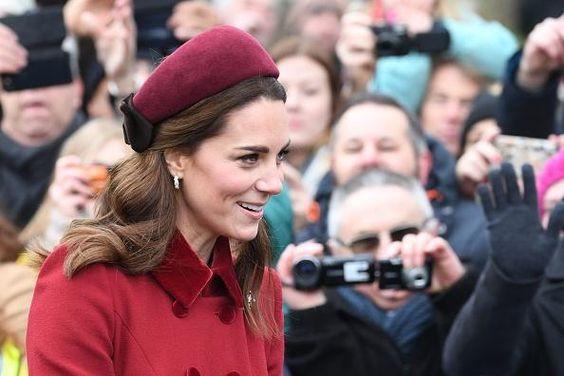 Kate Middleton Leaving the Christmas Day service at St Mary Magdalene Church in Sandringham, Norfolk, eastern England,