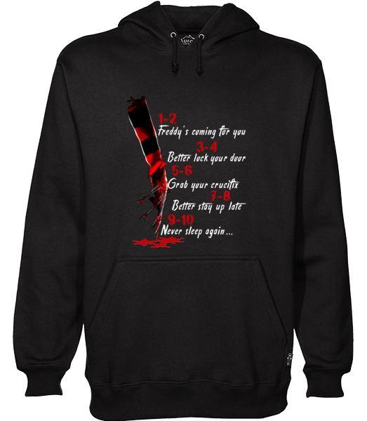 A Nightmare On Elm Street Hand Hoodie Ez025 Hoodies Sweater Ootd Sweater Design