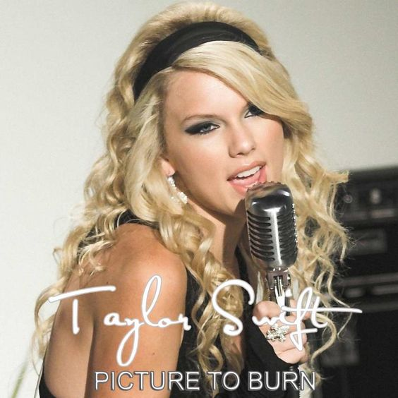 Taylor Swift – Picture to Burn (single cover art)
