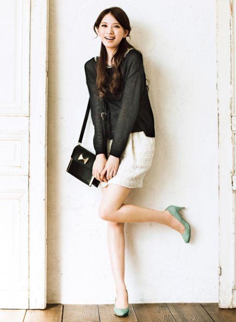 モノトーン派の差し色には凛としたミントグリーンを! | ファッション コーディネート | with online on ウーマンエキサイト
