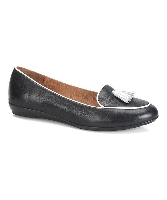 Look at this #zulilyfind! Söfft Black & White Bryce Leather Loafer by Söfft #zulilyfinds