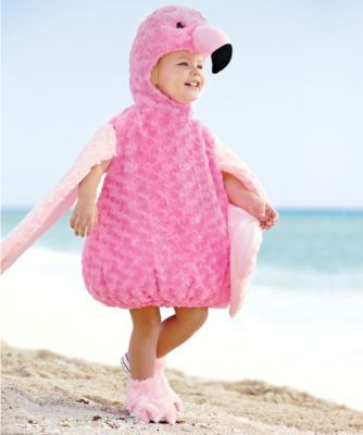 fuzzy flamingo baby costume - Can you balance on one leg? It takes practice but you can do it!