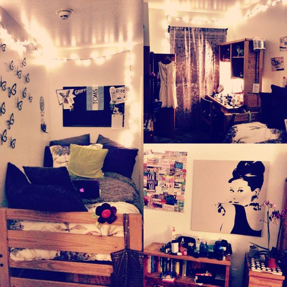 Dorm, Dorm room and Room inspiration on Pinterest