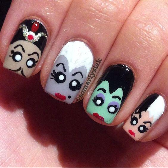 Disney Princess Nail Art: Disney Villains By Somarlysiek #nail #nails #nailart
