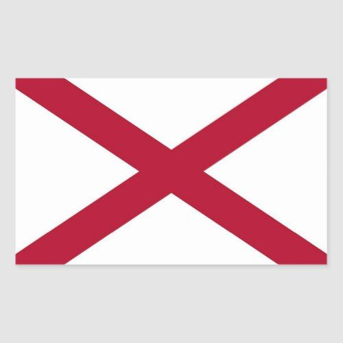 Rectangle Sticker With Flag Of Alabama U S A Zazzle Com Print Stickers State Flags Alabama State