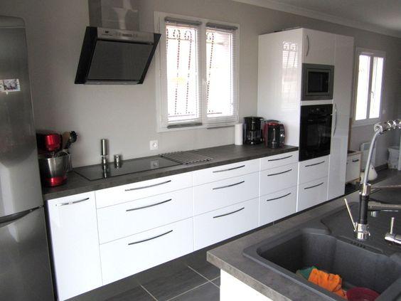 cuisine ikea blanc laqu cuisine pinterest ikea cuisine et cuisine ikea. Black Bedroom Furniture Sets. Home Design Ideas