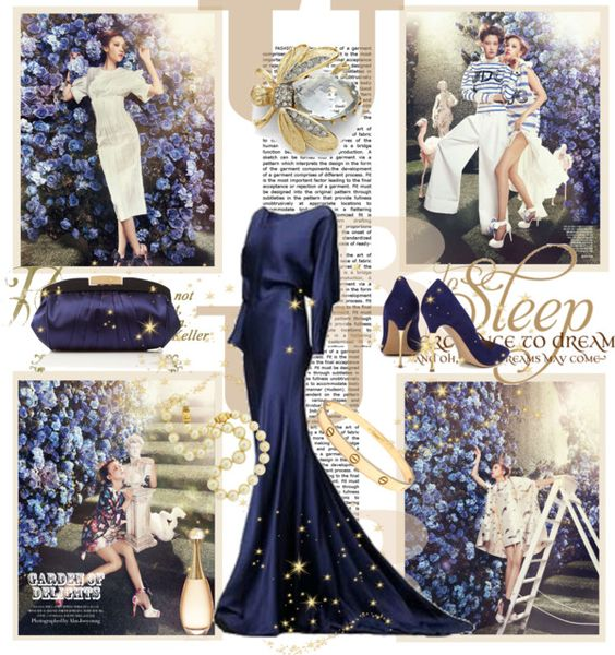 """""""Lady in blue"""" by milica-b3 ❤ liked on Polyvore"""