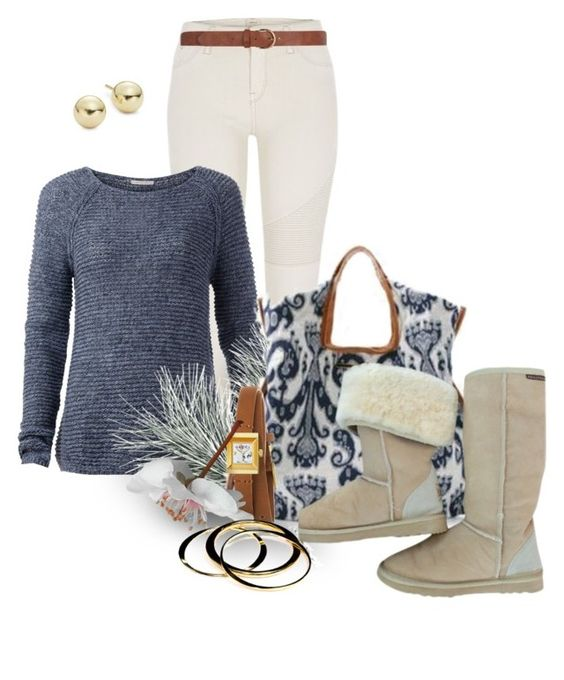 """""""Morning Frost"""" by scandalicious ❤ liked on Polyvore featuring River Island, Tommy Hilfiger, UGG Australia, Gucci, Dorothy Perkins, Janna Conner and Lord & Taylor"""