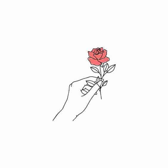 4aa31b504e8c703fb9b7c62422cc0b1c » Aesthetic Rose Drawing