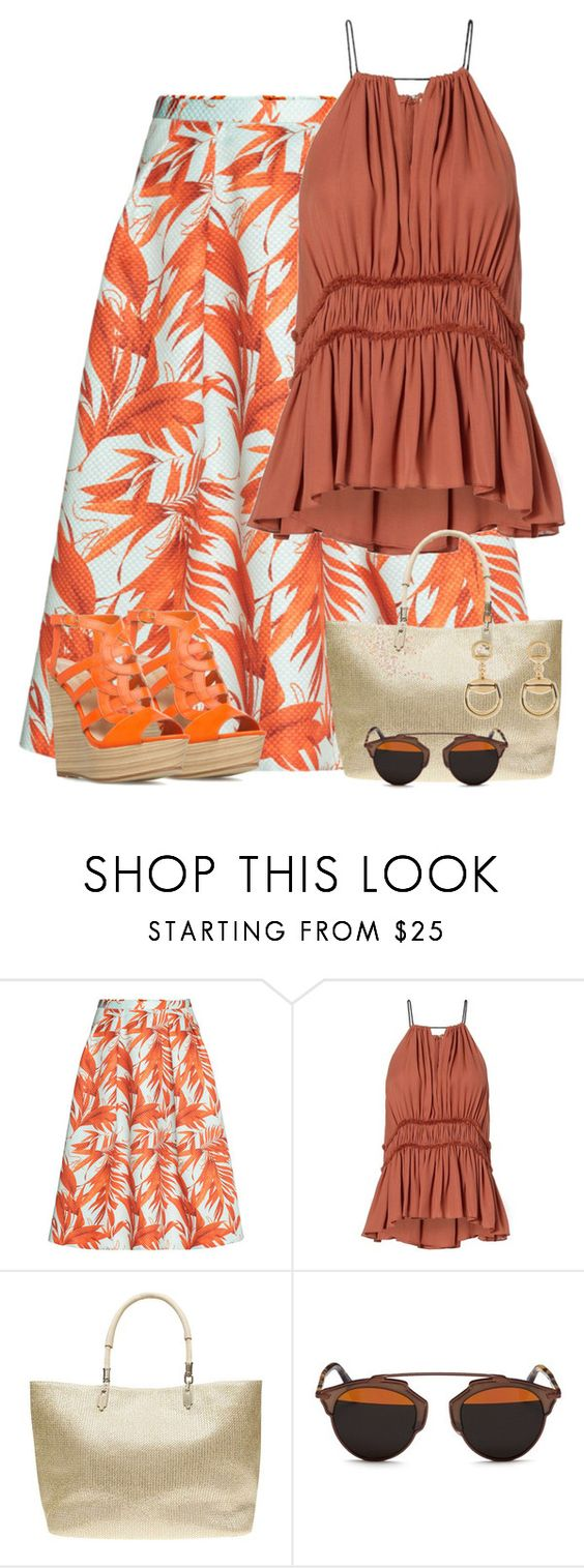 """""""Dior Sunglasses"""" by majezy ❤ liked on Polyvore featuring H&M, Dorothy Perkins, Christian Dior and Gucci"""