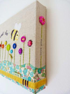 sweet bee wall canvas