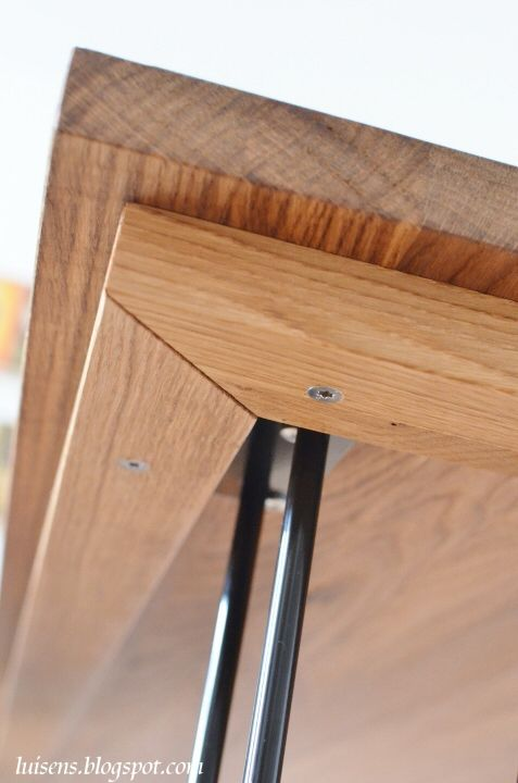 ... Altholz Besticht Mit Rustikaler Optik. Hairpin Legs, Stahl, Tischbeine,  Metall, Esstisch, Bauen, DIY   Esstisch
