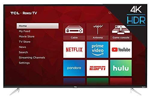 Tcl 55s423 55 4k Uhd Hdr Roku Smart Tv Certified Refurbished 55 Inch Tvs Smart Tv Led Tv