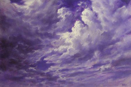 Wolken 2 Paarse wolkenlucht. Paul de Werd