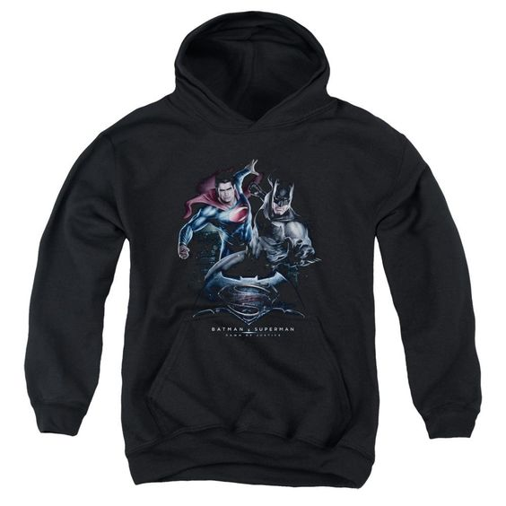 Batman V Superman Team Up Youth Pull-Over Hoodie