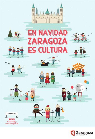 Cartel Navidad Zaragoza 2015: