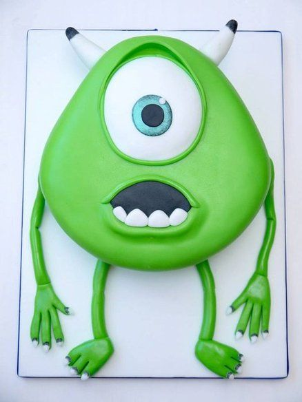 Mike Wazowski Cake From Monsters Inc I Think A Cake Of