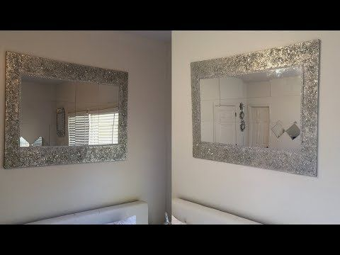 Diy Wall Decor With In Built Lighting Using Cardboards Simple And Inexpensive Wall Decorating Idea Yout Diy Mirror Decor Mirror Design Wall Mirror Wall Decor