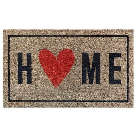 Home With Heart Typography Doormat 1 6 Home Be