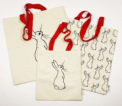 Rabbits tote bags