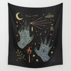A Curse Upon You! Wall Tapestry