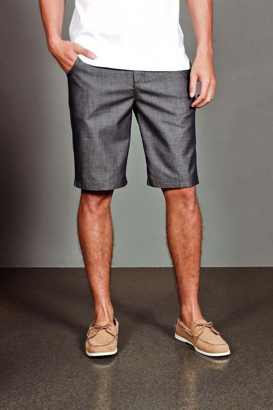 Love the shoes with the shorts and understated plain white t