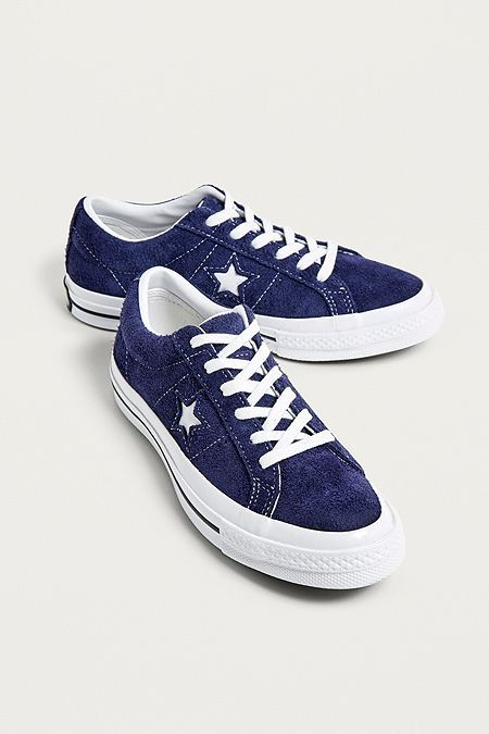 Unisexe Converse One Star Vintage Suede Low Top Bleu