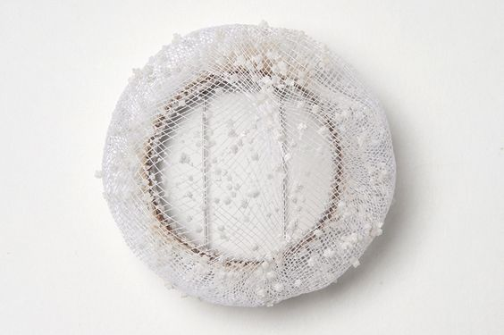 Naama Bergman -   Salt Brooch 04. 2016. Salt, Plastic Mesh - SATURATION POINT /