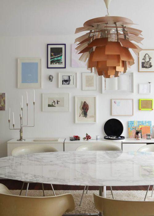 dining room wall + pendant