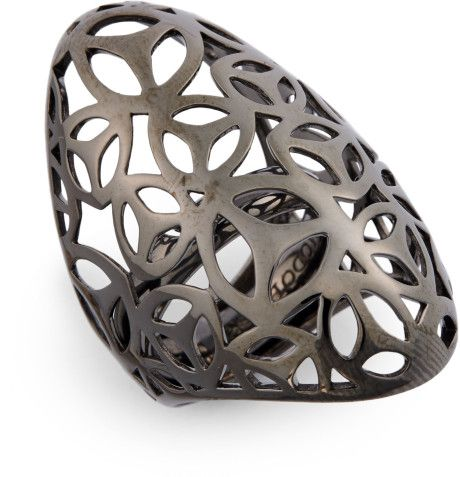 Di Modolo Openwork Cocktail Ring in Silver