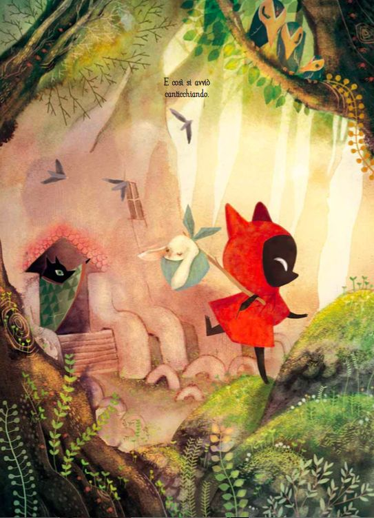 """E se Cappuccetto Rosso fosse, questa volta, un lupetto? """"Lupetto Rosso"""" di Amélie Fléchais inaugura «Mirari», la collana di libri llustrati Tunué."""