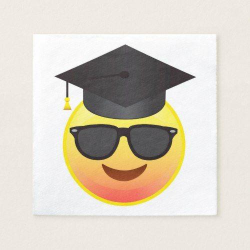 Graduation Happy Sunglasses Emoji Party Napkins Zazzle Com In 2020 Emoji Party Party Napkins Emoji Party Decorations