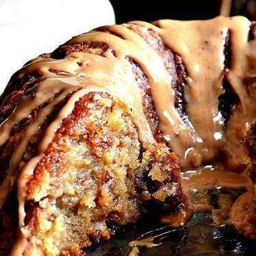 Brown Sugar Pound cake. Wow, this is good! You really don't need the Carmel sauce though, it's sweet enough!