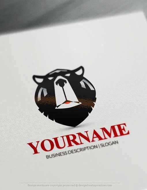 Free Logos Creator Online Bear Head Logo Maker Arte De Marvel Eslogan Tatuajes Interesantes