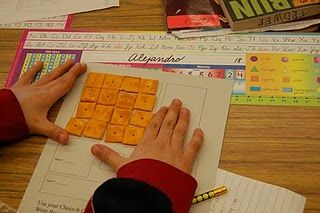 Use Cheez-Its to teach area & perimeter...