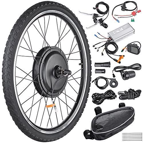 "48V 1000W 26/"" Fat Tire Rear Wheel w// LCD Electric Bicycle E-bike Kit Conversion"