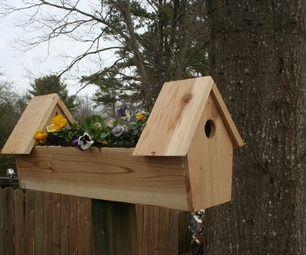 cedar double bird house planter  ...♥♥...
