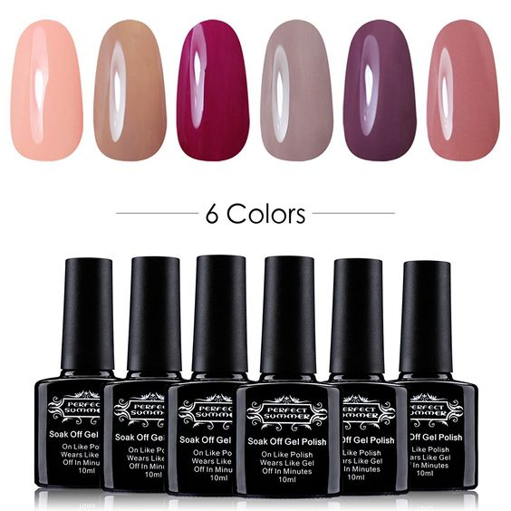 Perfect SummerSoak Off Gel Nail Polish, Soft Pastel Colors French Manicure Gift Kit * Details can be found by clicking on the image.