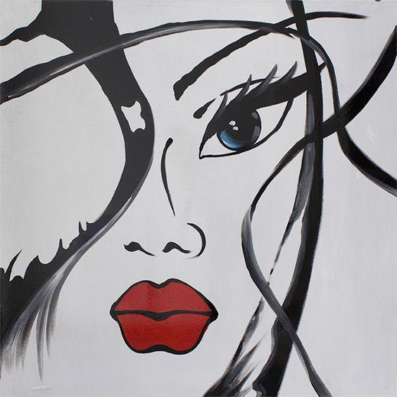 D cor and rouge on pinterest - Tableau photo noir et blanc ...