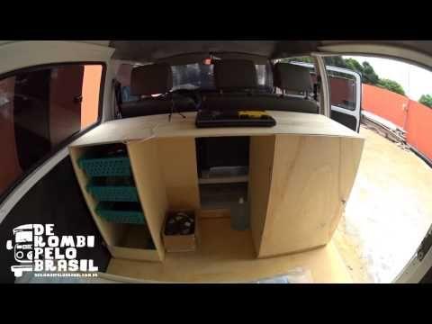 De Kombi pelo Brasil - Resumo da adaptação do interior - YouTube