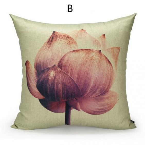 Lotus pillow Chinese style flower pillow for home decoration