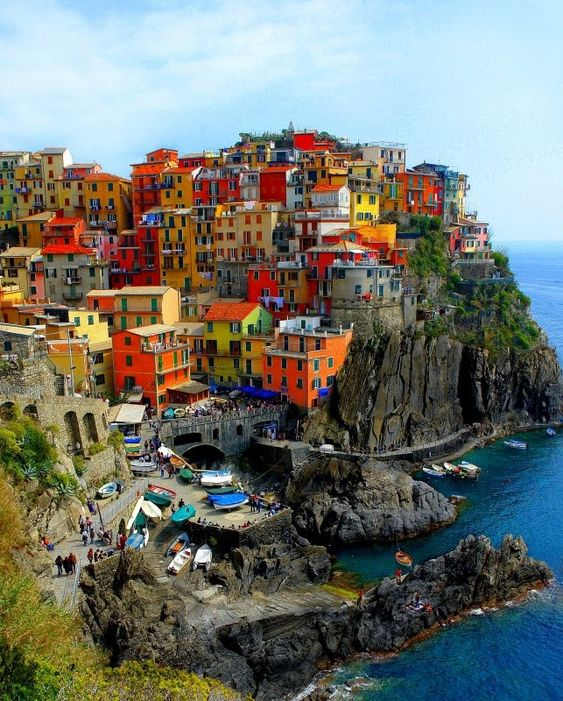 Rainbow on a Hill:    Cinque Terre, Italy.